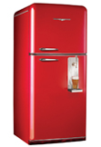 The real Canadian Red retro fridge is here!