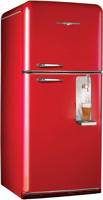 Retro red fridge