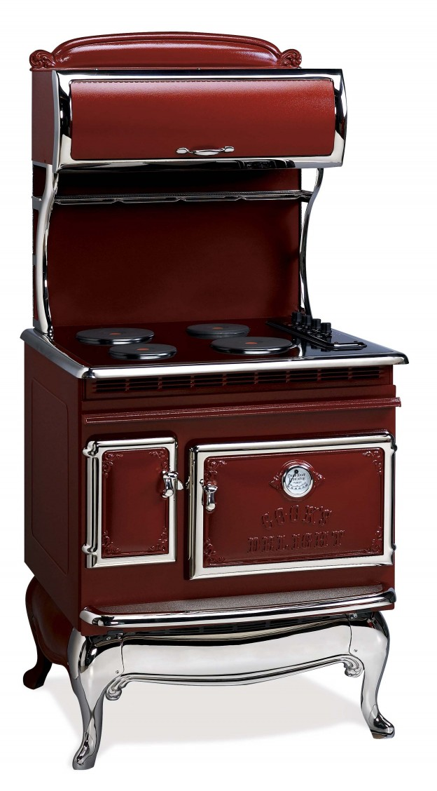 Antique Ranges 1850 All Electric Range Red Elmira