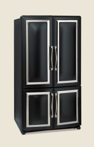 1898 French Door Fridge Black
